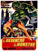 1950s Movies Photo Posters - Revenge Of The Creature, Aka La Poster by Everett