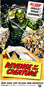 1950s Movies Prints - Revenge Of The Creature, As The Gill Print by Everett