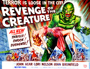 1950s Movies Art - Revenge Of The Creature, Lori Nelson by Everett