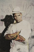 Asheville Mixed Media Originals - Reverend Run of Run DMC by Dustin Spagnola