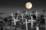 Cemetary Framed Prints - Reverent Moonlight.... Framed Print by Al  Swasey