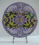 Circle Glass Art - Reversal in Flight by Michelle Rial