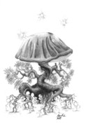 Magic Mushroom Prints - Revka Print by Morgan Banks