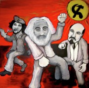 Marx Paintings - Revolution Rock by Danny Hennesy