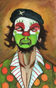 Pop Surrealism Paintings - Revolutionary Clown by LEX Covato