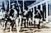 Philadelphia Digital Art Prints - Revolutionary Soldiers at Fort Mifflin Print by Bill Cannon