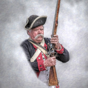 Concord Posters - Revolutionary War American Soldier Poster by Randy Steele