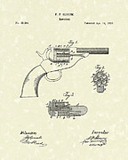 Six Shooter Framed Prints - Revolver 1863 Patent Art Framed Print by Prior Art Design
