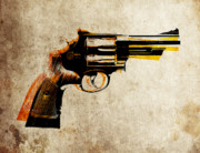Weapon Metal Prints - Revolver Metal Print by Michael Tompsett