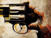 Weapon Metal Prints - Revolver Trigger Metal Print by Michael Tompsett