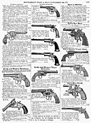 Fire Arms Prints - Revolvers And Pistols, 1895 Print by Granger