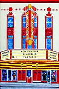 Movie Mixed Media Originals - Rex Theater Pensacola Florida by Richard Roselli