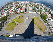 Reykjavik Iceland - Aerial View Print by Gregory Dyer