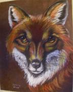 Fox Pastels Prints - Reynard Print by Deborah Colony