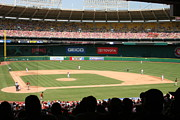Nationals Baseball Framed Prints - RFK Stadium Framed Print by Lance Freeman