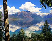 Marty Koch Art - Rflection on Lake McDonald by Marty Koch