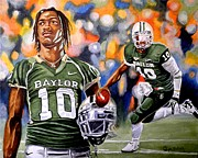 Quarterback Paintings - Rg3 by Al  Molina