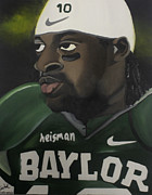 Football Paintings - Rg3 by Chelsea VanHook