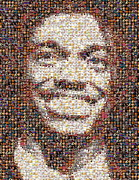 Redskins Posters - RG3 Redskins History Mosaic Poster by Paul Van Scott
