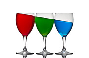 Wine Glasses Prints - Rgb Print by Gert Lavsen