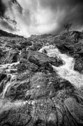 Menacing Prints - Rhaeadr Idwal Waterfall Print by Andy Astbury
