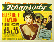 1954 Movies Prints - Rhapsody, Elizabeth Taylor, 1954 Print by Everett