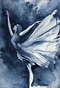 Dance Painting Posters - Rhapsody in Blue Poster by L Lauter