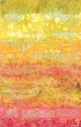 Yellow Line Mixed Media Prints - Rhapsody of Colors 30 Print by Elisabeth Witte - Printscapes