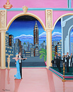 Empire State Building Paintings - Rhapsody by Tracy Dennison
