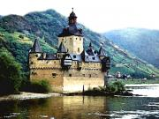 River Rhine Prints - Rhine River Castle Print by Paul Sachtleben