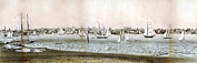 Ships And Boats Prints - Rhode Island. A View Of Newport, Rhode Print by Everett