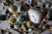 Mosaic Mixed Media - Rhode Island beach mosaic by Anne Babineau