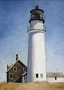 Mary Rogers Prints - Rhode Island lighthouse Print by Mary Rogers