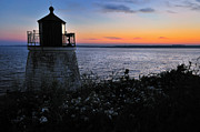 New England Lighthouse Prints - Rhode Island Silhouette Print by Thomas Schoeller