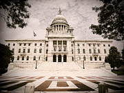 Rhode Island Photos - Rhode Island State House by Lourry Legarde