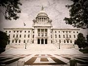 Rhode Island State House Print by Lourry Legarde