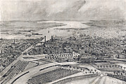 Rhode Island Map Prints - Rhode Island. View Of The City Print by Everett