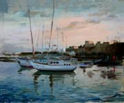 Rhodes Mandraki Harbour Print by Ylli Haruni