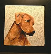 Prairie Dog Ceramics - Rhodesian Ridgeback Trophy by Phillip Dimor