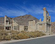 Old Cabins Photos - Rhyolite Building 3 by Lydia Warner Miller