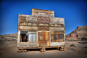 Ghost Town Framed Prints - Rhyolite Mercatile Framed Print by Peter Tellone