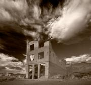 Nevada Framed Prints - Rhyolite Nevada Ghost Town Framed Print by Steve Gadomski