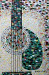 Pointillism Art - Rhythm Guitar by Denise Landis