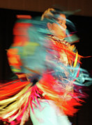 Pow Wow Posters - Rhythm Of Dance Poster by Joy Tudor