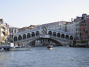 Canal Grande Prints - Rialto. Venice Print by Bernard Jaubert