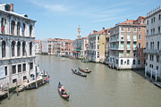 City Venice Italy Framed Prints - Rialto View Framed Print by A Goadby