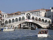 Canal Grande Prints - Rialto.venice Print by Bernard Jaubert