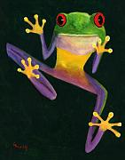 Reptile Paintings - Ribbit by Linda Hiller