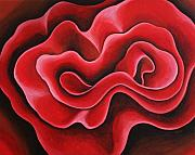 Crimson Painting Originals - Ribbon by Bonnie Kelso