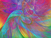 Ribbons Digital Art - Ribbons Of The Rainbow by Andee Photography